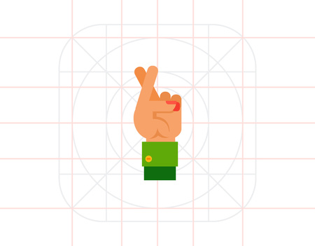 fingers crossed: Crossed Fingers as Good Luck Concept Icon