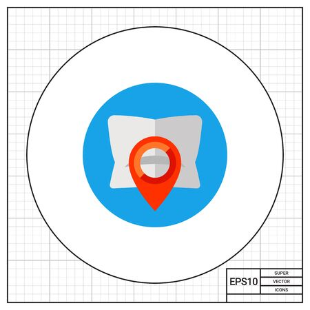 waypoint: Waypoint map symbol and pillow