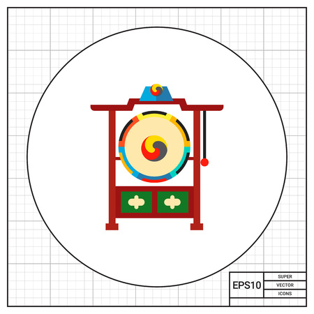 royal person: Traditional Korean drums icon