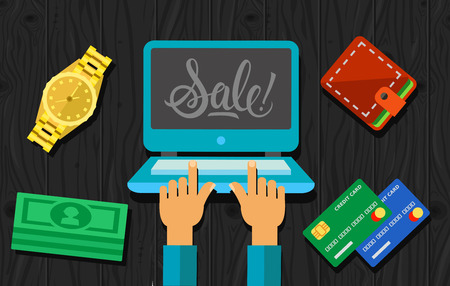 laptop screen: Sale Lettering on Laptop Screen