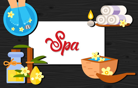 spa collage: Spa Lettering with Massage Accessories