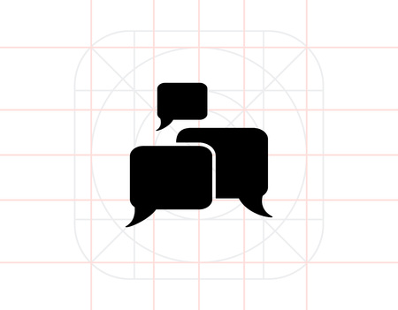 discussion: Discussion Simple Icon Illustration