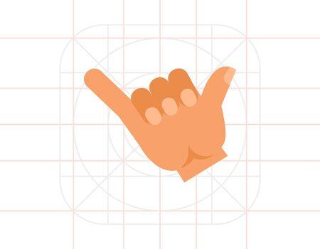 Drink Gesture Flat Icon Illustration