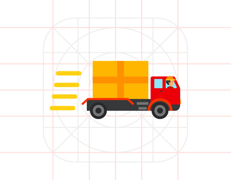 Fast Delivery Concept with Truck Icon
