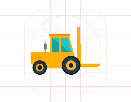 movers: Forklift truck icon