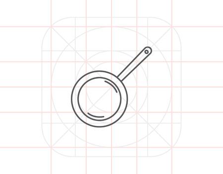 pan: Frying pan Illustration