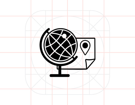 geography: Geography simple icon Illustration
