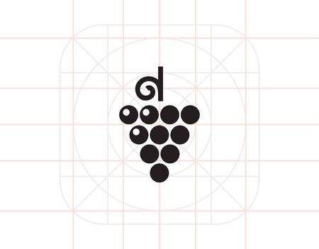 bunch: Grape bunch icon Illustration