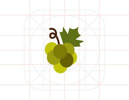 bunch: Green grape bunch icon