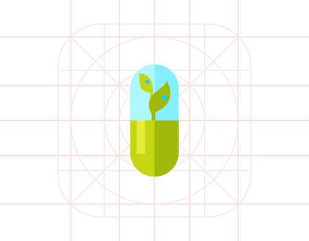 cytology: Green Sprout as Botany Concept Icon