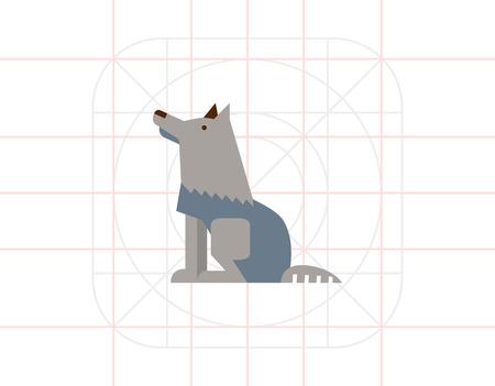 grey wolf: Grey wolf icon