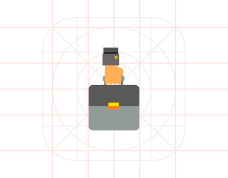 business case: Hand Carrying Business Case Icon