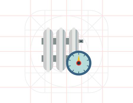regulator: Heating radiator with temperature regulator Illustration