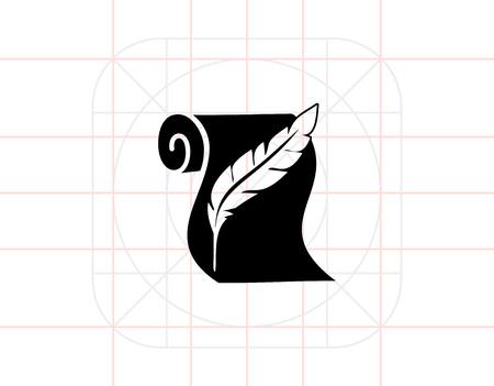 History simple icon Vektoros illusztráció