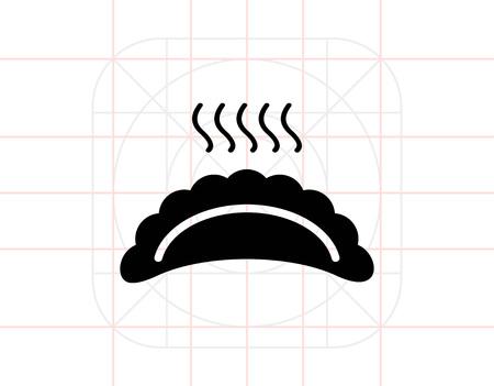 Hot ravioli icon Stock Vector - 69613989