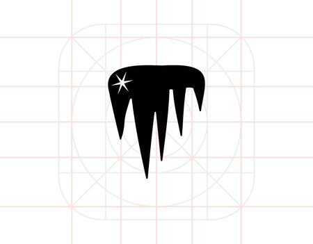 icicles: Vector icon of shining icicles representing ice concept