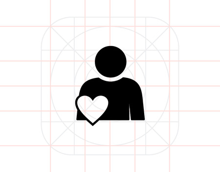 involvement: Person with heart symbol. Involvement, engagement, participation. Involvement concept. Can be used for topics like network, business, work Illustration
