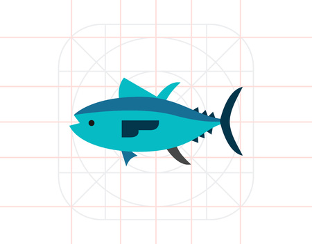 Isolated Tuna Icon