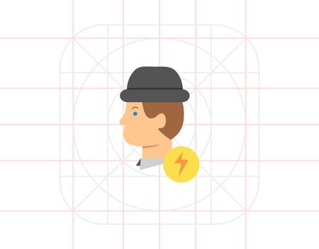 inspiration: Inspiration icon Illustration
