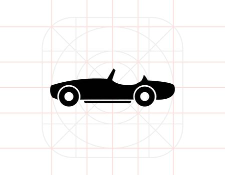 cabriolet: Isolated Cabriolet Icon