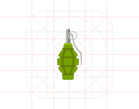 lanzamiento de bala: Icono aislado de la granada