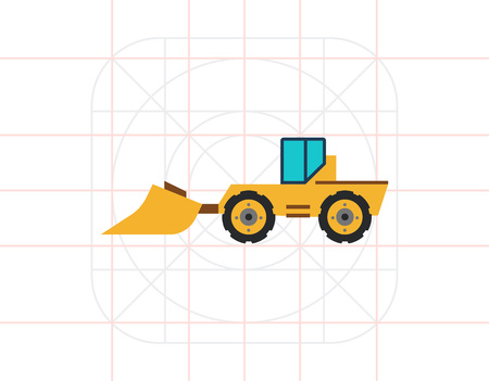 Industrial bulldozer with scoop
