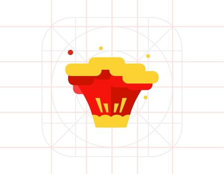 bloodshed: Explosion flat icon Illustration