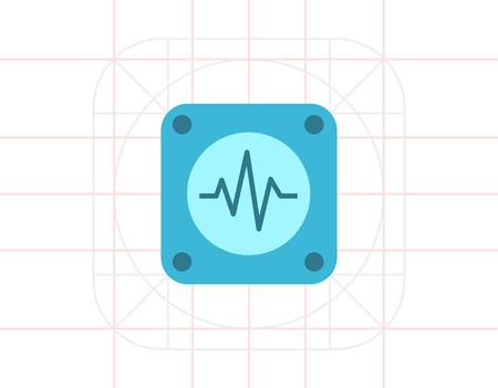 electrocardiograma: Electrocardiogram Vectores