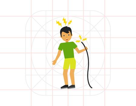 electric shock: Electric Shock Flat Icon