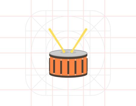 drumming: Drum with drumsticks