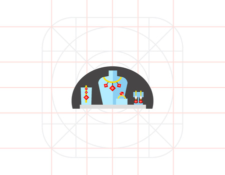 ruby: Dummies for Jewelry Icon Illustration