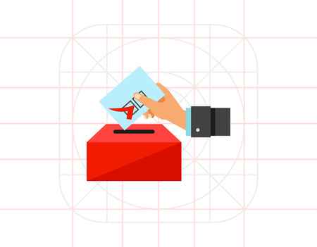 Election Concept with Voting Paper Icon