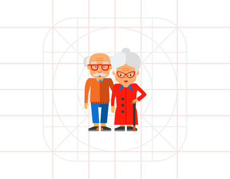 frail: Elderly People Vector Icon