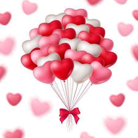 bunch: Bunch of Heart Balloons