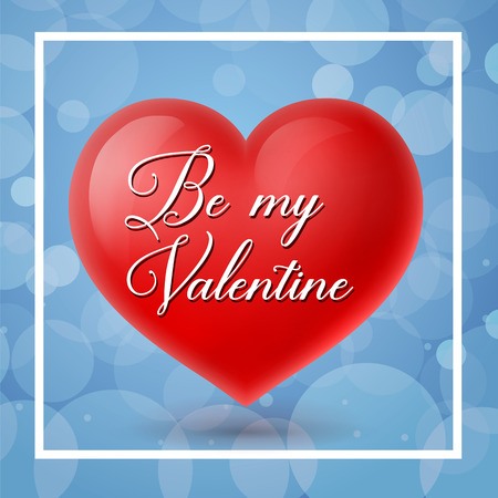 Be My Valentine Lettering on Heart