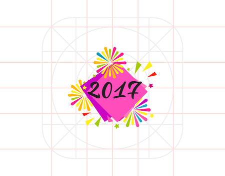 2017 and Firework Icon