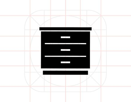 drawers: Chest of Drawers Icon Stock Photo