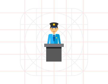 customs official: Customs Official Vector Icon
