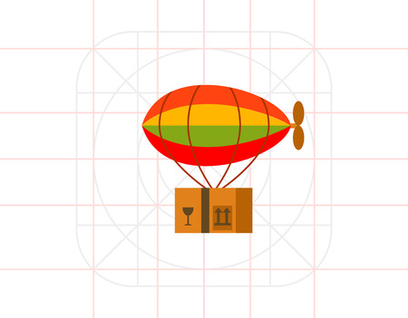 Delivery of Package by Airship Icon