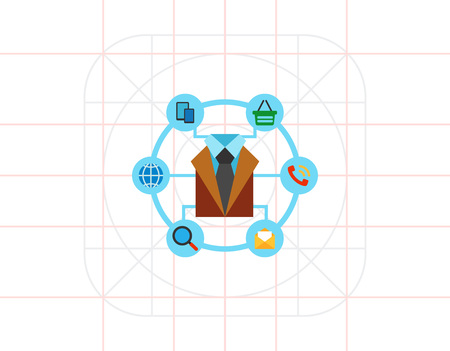 channels: Communication Channels Icon Illustration