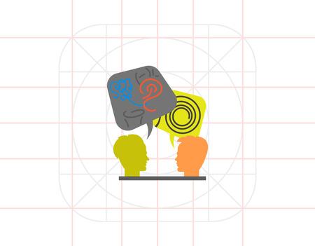decoding: Decoding and Understanding Problem Icon Illustration