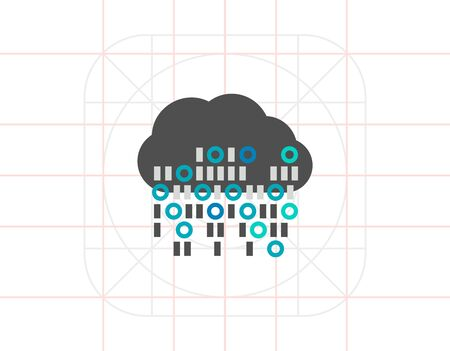 data synchronization: Cloud Computing Vector Icon