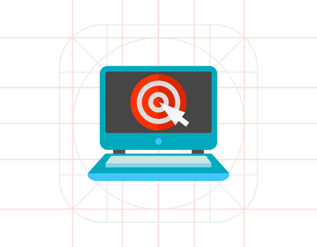 digital marketing: Digital Marketing Company Concept Icon Stock Photo