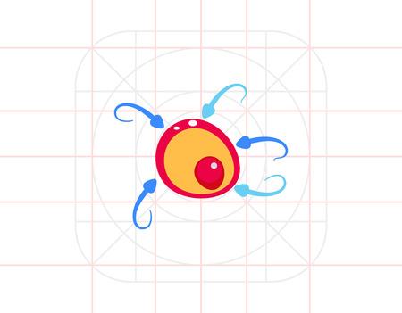 Düngung Konzept mit Ovum Icon