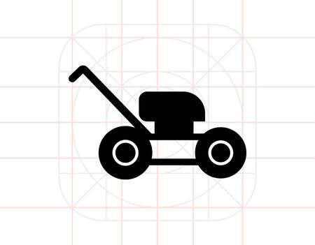 Lawn mower icon Vektorové ilustrace