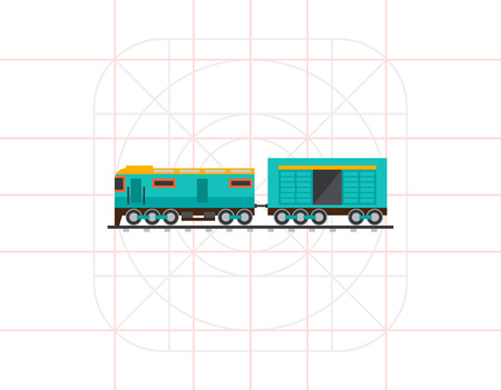 boxcar: Freight Train Car Icon Illustration