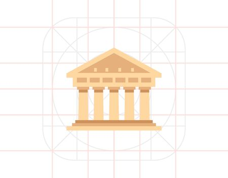 isolated sign: Historical Building Vector Icon