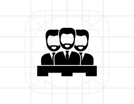 jurado: Jury of Three Men Icon Vectores