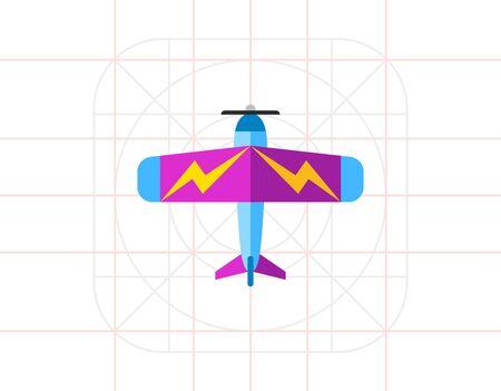 Light Plane Icon Illustration
