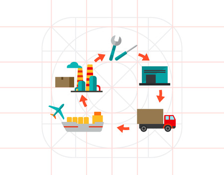 Logistics Cycle Icon
